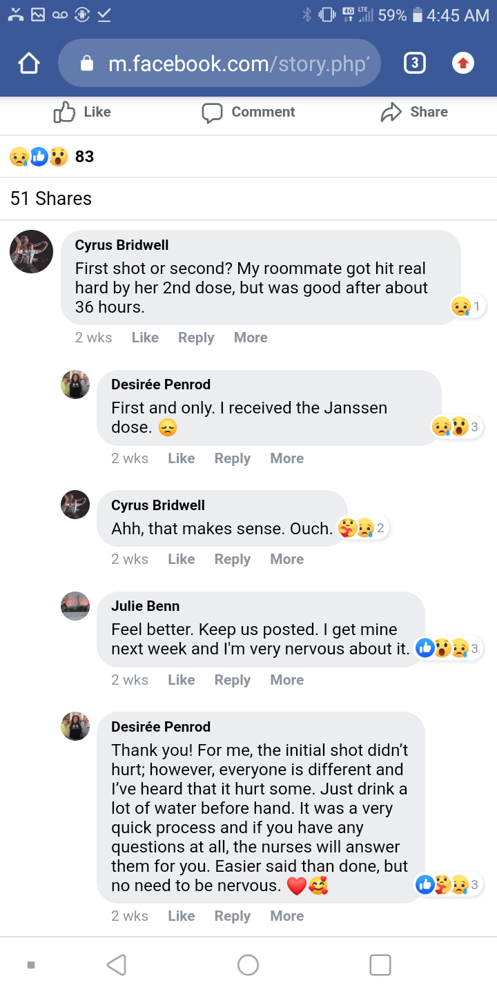 desiree comments
