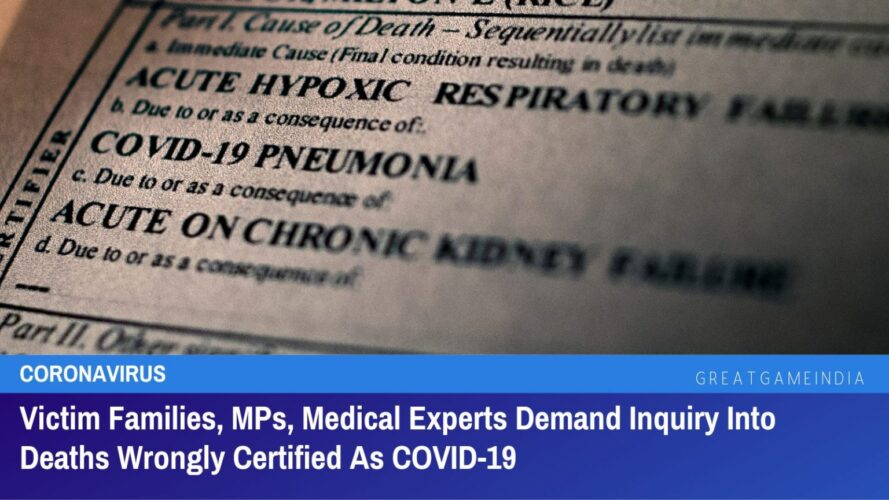 mps, medical experts, & victim families demand inquiry into deaths wrongly certified as covid 19