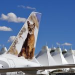 """I made a 3 day stop at Denver during a long """"US Road Trip"""".I drove from Yellowstone to work with Frontier Airlines.In particular I wanted to photograph as much of their fleet as possible for the Nature Pics. on the tails of the aircraft.This Pic. was during an escorted Airside/Ramp session.Taken early August 2011."""