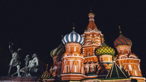St. Basil's Cathedral. This was taken during my first night in Moscow. Decided to take a stroll down the Red Square to see all the sights.